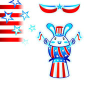 Election rabbit — Stock Vector