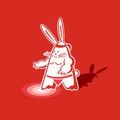 Conejo de sumo — Vector de stock