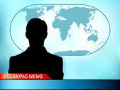 Breaking news tv — Stock Vector