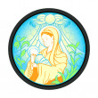 Stock Vector: Virgin Mary with Jesus