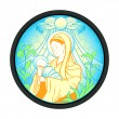 Virgin Mary with Jesus — Stock Vector