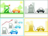 Koncepcje benzyna — Wektor stockowy
