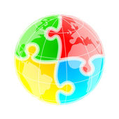 Puzzle mondo — Vettoriale Stock