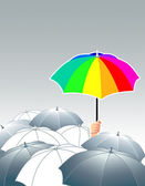 Make the own rainbow — Stock Vector