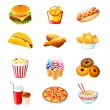 Fast food icons — Stock Vector #6828942