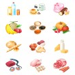 Food market icons — Stock Vector