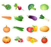 Calorie table vegetables — Stock Vector