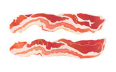 Cooked bacon strips — Stock Vector