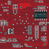 Seamless motherboard pattern — Vecteur