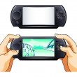 Stock Vector: Portable gamepad