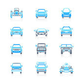 Cars front view icons | MARINE series — Stock Vector