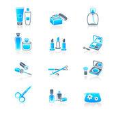 Cosmetics icons | MARINE series — Stock Vector