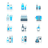 Drink bottles icons | MARINE series — Vettoriale Stock