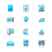 Home electronics icons | MARINE series — Stock Vector