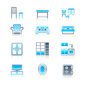 Home furniture icons | MARINE series — Stock Vector