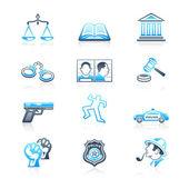закон и порядок иконок   морской серии — Cтоковый вектор