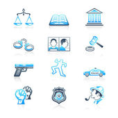 Law and order icons | MARINE series — Stock vektor