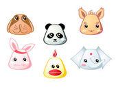 Cute animals | Set 1 — Stock Vector