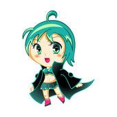 Dziewczyna anime — Wektor stockowy