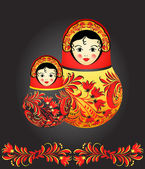 Matryoshka dolls — Vector de stock