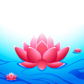 Sacred lotus — Stock Vector