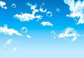 Dream-like blue sky — Stock Vector