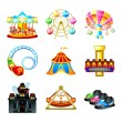 Attraction icons — Stock Vector
