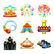 Stock Vector: Attraction icons