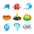 Natural disaster icons — 图库矢量图片
