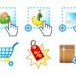 E-commerce icons — Stock Vector #7089722