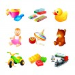 Toy icons — Stock Vector #7089737