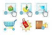 Иконки электронной коммерции — Cтоковый вектор