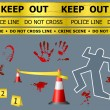 Crime scene objects — Imagen vectorial