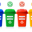 Recycling bins — Vector de stock