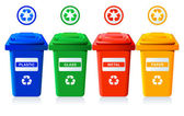 Recycling bins — Stockvector