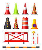 Traffic Cones, Drums & Posts — Stock Vector