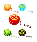 Colorful yo-yo — Stock Vector