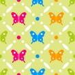 Stock Vector: Butterfly stitches