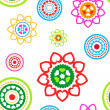 Circled hearts seamless pattern — 图库矢量图片