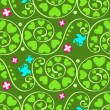 Seamless summer garden pattern — Stock Vector