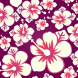 Hibiscus seamless pattern — Stock Vector