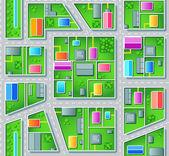 Seamless suburb plan — Stock Vector