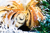 Christmas baked rolls — Stock Photo