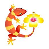 Spa gecko — Stock Vector
