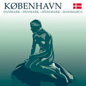 Copenhagen Mermaid — 图库矢量图片