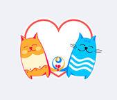 Cats love — Stock Vector