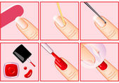 Professional manicure — Stockvektor