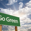 Stock Photo: Go Green Road Sign