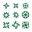 Leaf and Flower Vector Illustrations - Vettoriali Stock