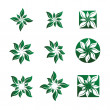 Leaf and Flower Vector Illustrations — Stockvektor